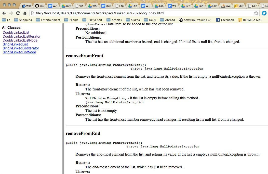Documenting Java Code With Javadoc (Readings, CSC 207 2013F)