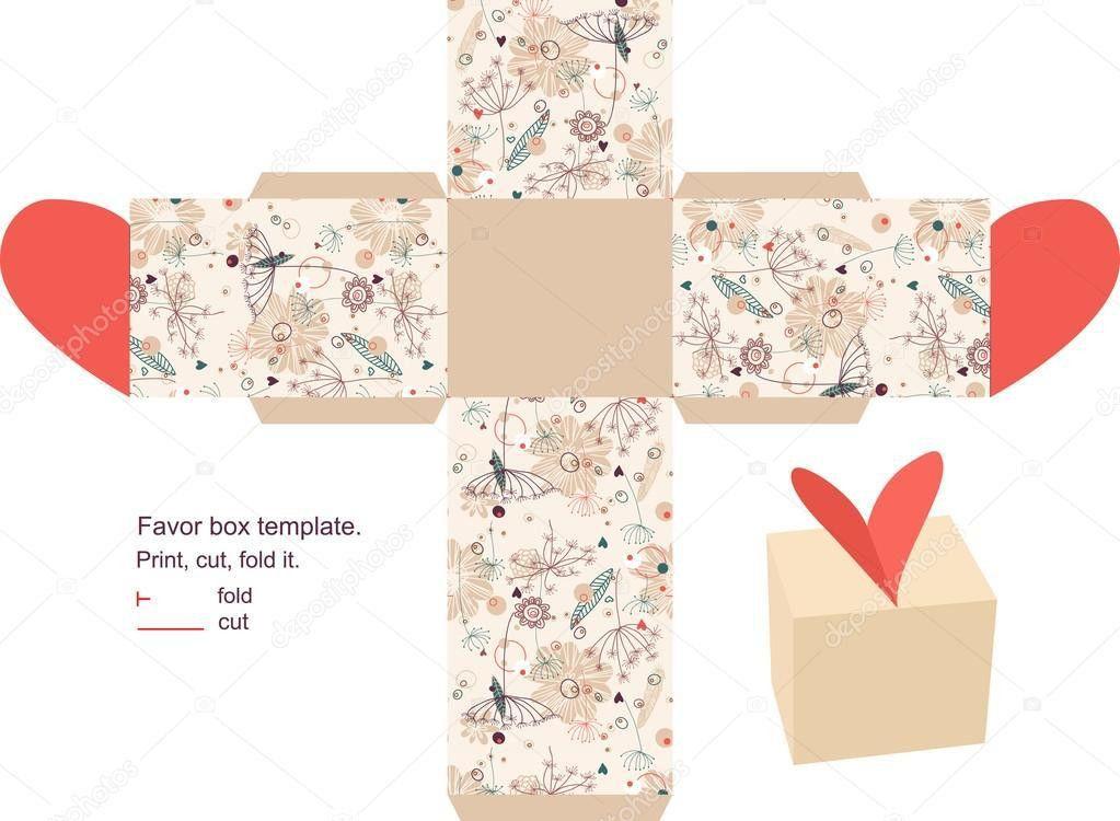 Gift box template — Stock Vector © yaskii #7613943
