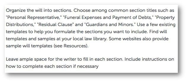 Writing a Legal Will: the worst advice we have seen yet