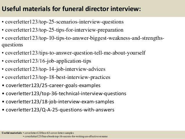 Funeral director cover letter sample livecareer - funeral director resume