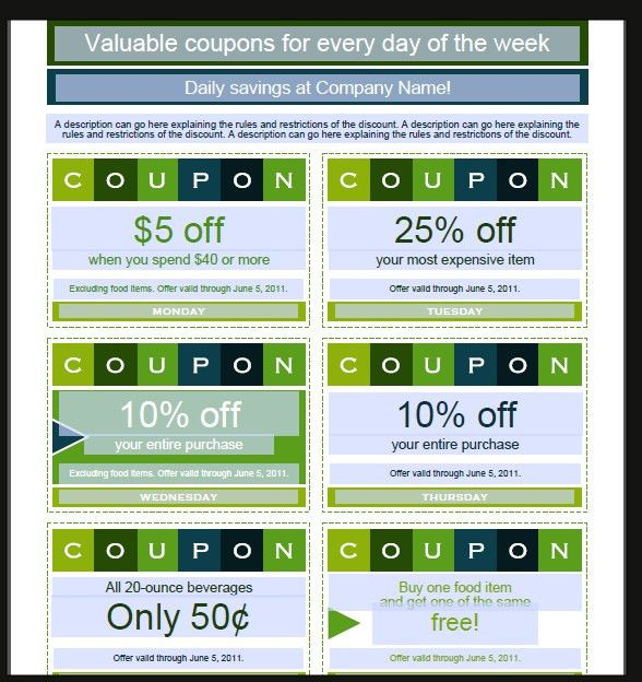 7+ Coupon Design Templates - Word Excel PDF Templates