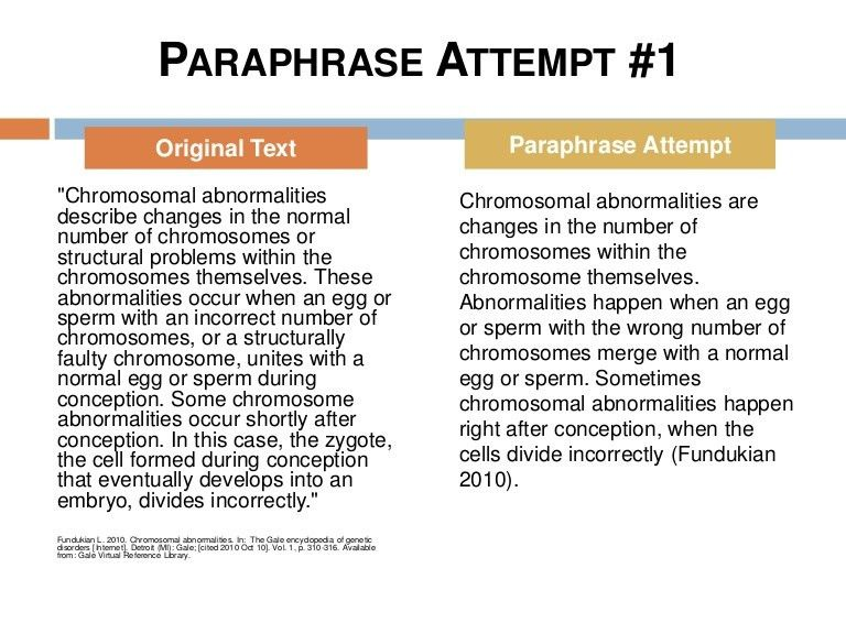 Paraphrasing - CSE style