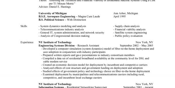 Aerospace Engineering Resume  Aerospace Engineer Resume