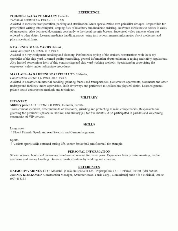 Resume : First Resume Objective Format Of International Cv Cover ...
