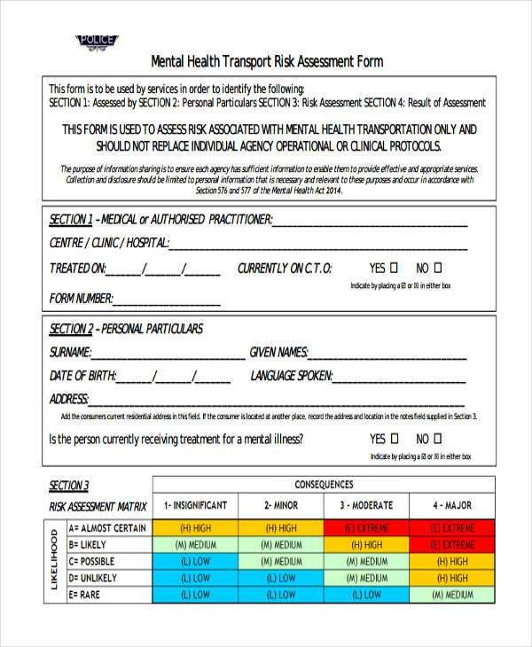 19+ Free Risk Assessment Forms | Free & Premium Templates