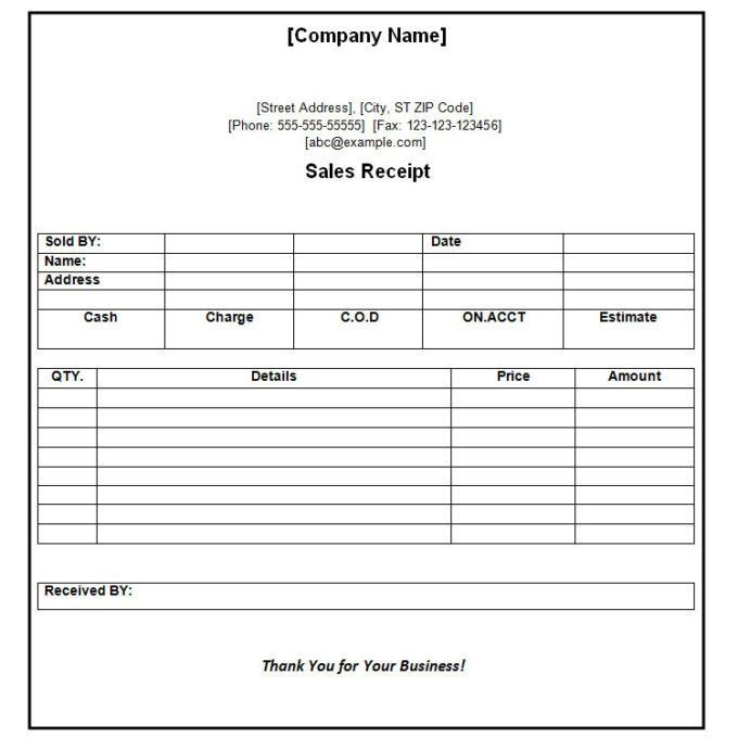 Payment Received Receipt Format - Template Examples