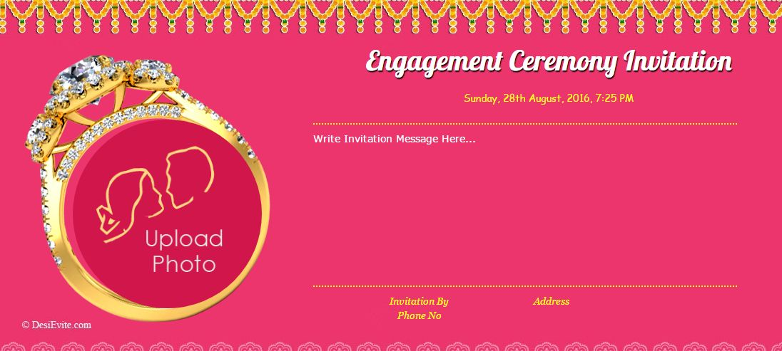 Free Hindu-Engagement-Invitation-Cards Invitation Card & Online ...