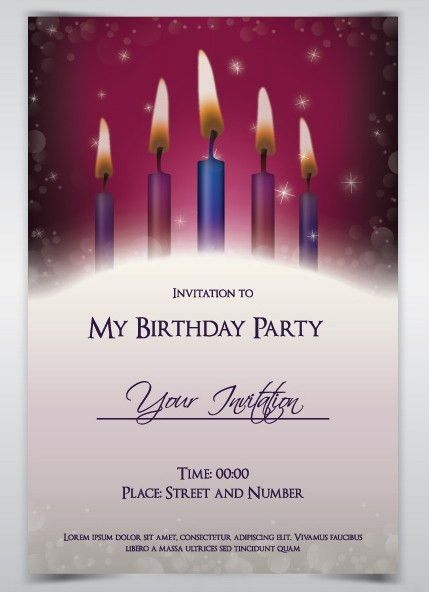 Free Birthday Party Invitation Card Template Vector - TitanUI
