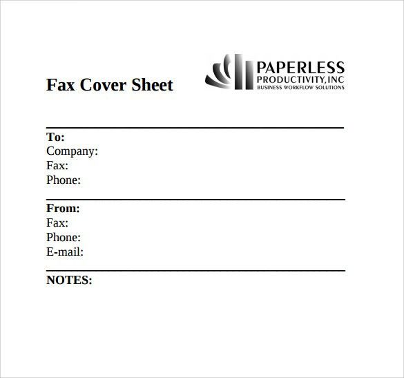Sample Fax Cover - 8+ Documents in PDF