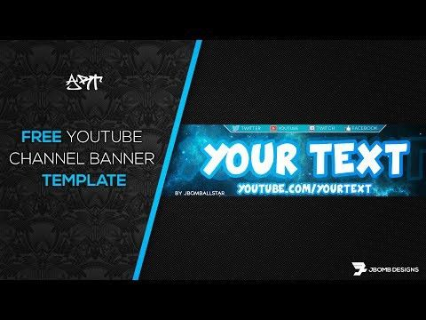 FREE Youtube Banner Template No Survey Photoshop (PSD) 2017 ...