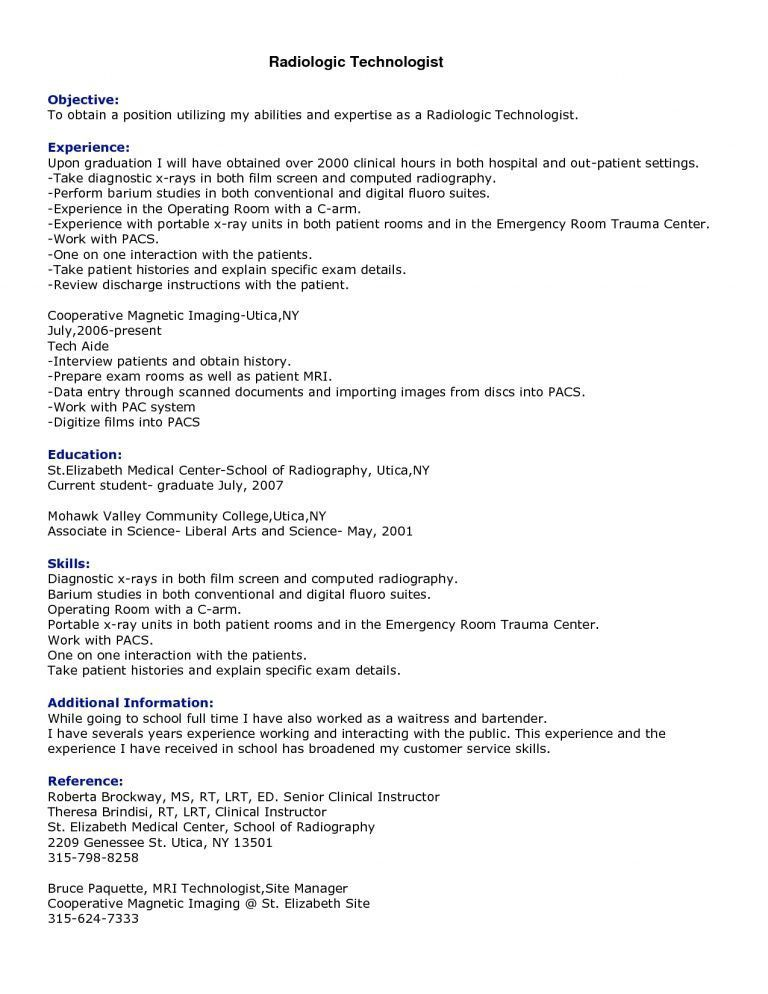 Download Radiologic Technologist Resume | haadyaooverbayresort.com