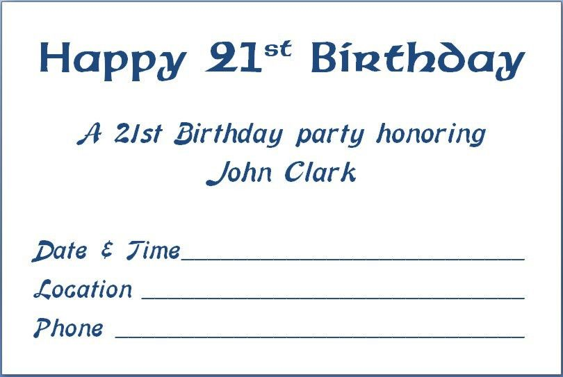 21st Party Invitations Templates | Free Invitation Templates
