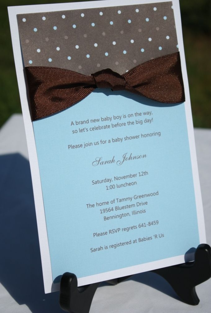 10 best New Diy Baby Shower Invitations Easy images on Pinterest ...