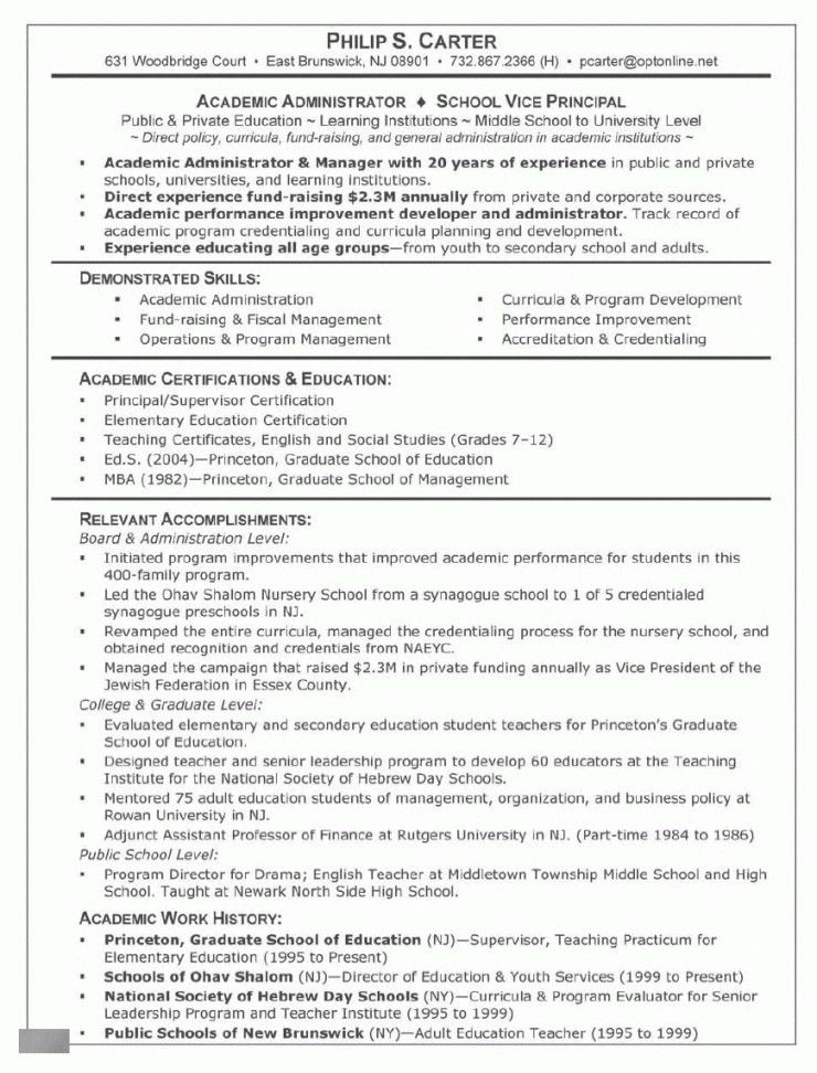 Writing A Resume For Graduate School | Resume Examples 2017