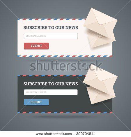 Newsletter Design Template Vector Illustration Flat Stock Vector ...