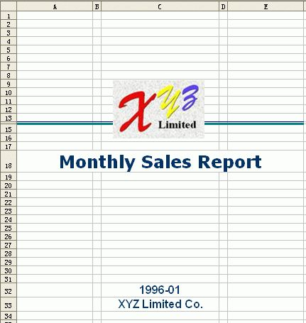 Free Excel Report Template - Monthly Sales 1
