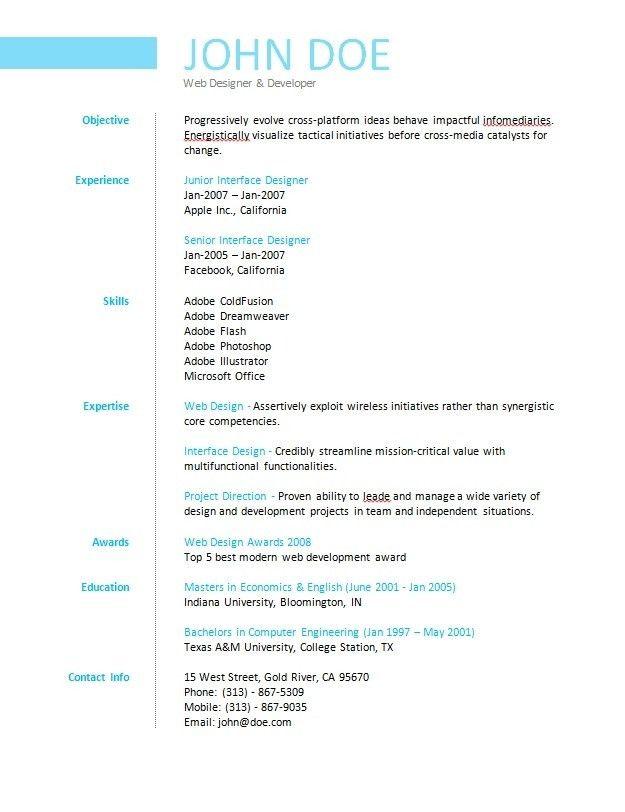 Homely Ideas Simple Resume Builder 6 Basic Resume Builder Spong ...