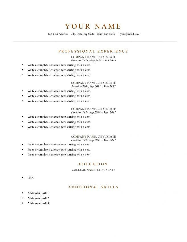 12 Brief Resume Template Resume short resume pdf. short resume ...