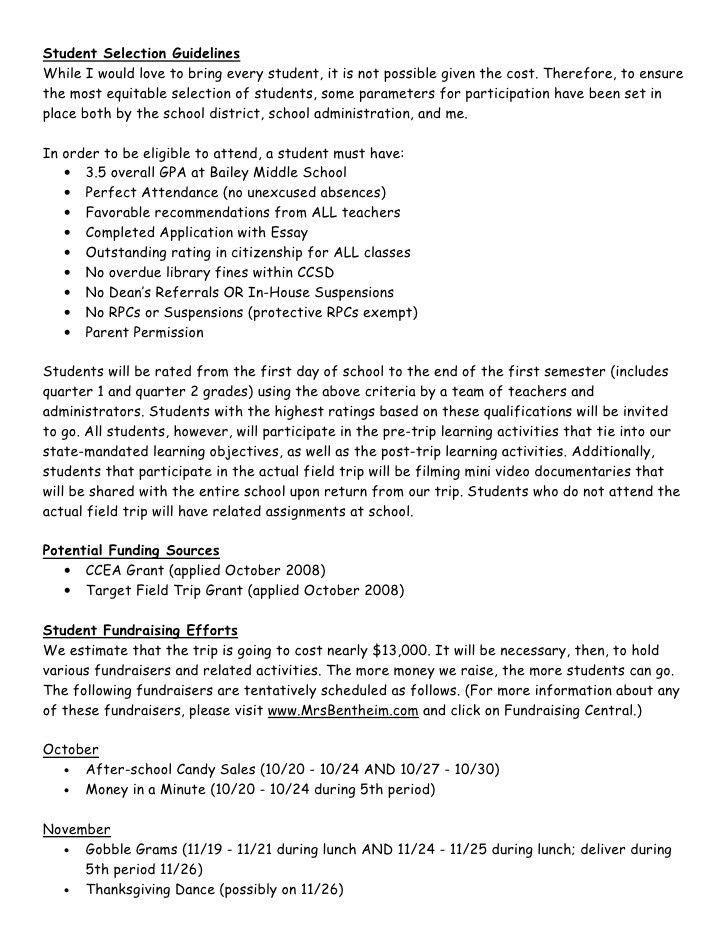 Alcatraz Field Trip Grant Proposal