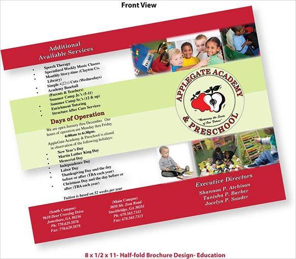10+ Preschool Brochure - Vector EPS, PSD