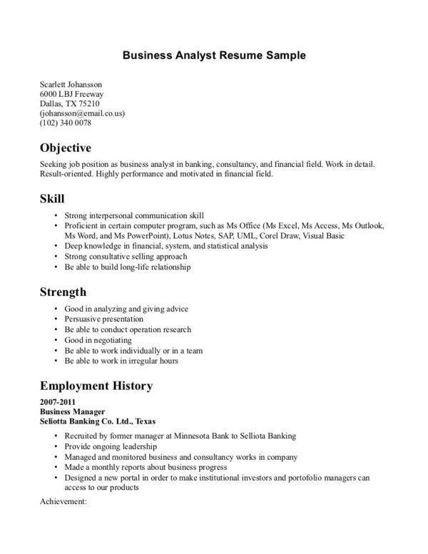 Sap Business Analyst Resume | Cvletter.billybullock.us