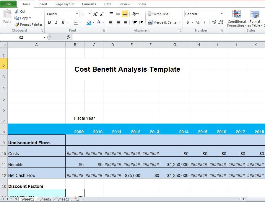 Cost Benefit Analysis Template Excel Microsoft - Excel Tmp