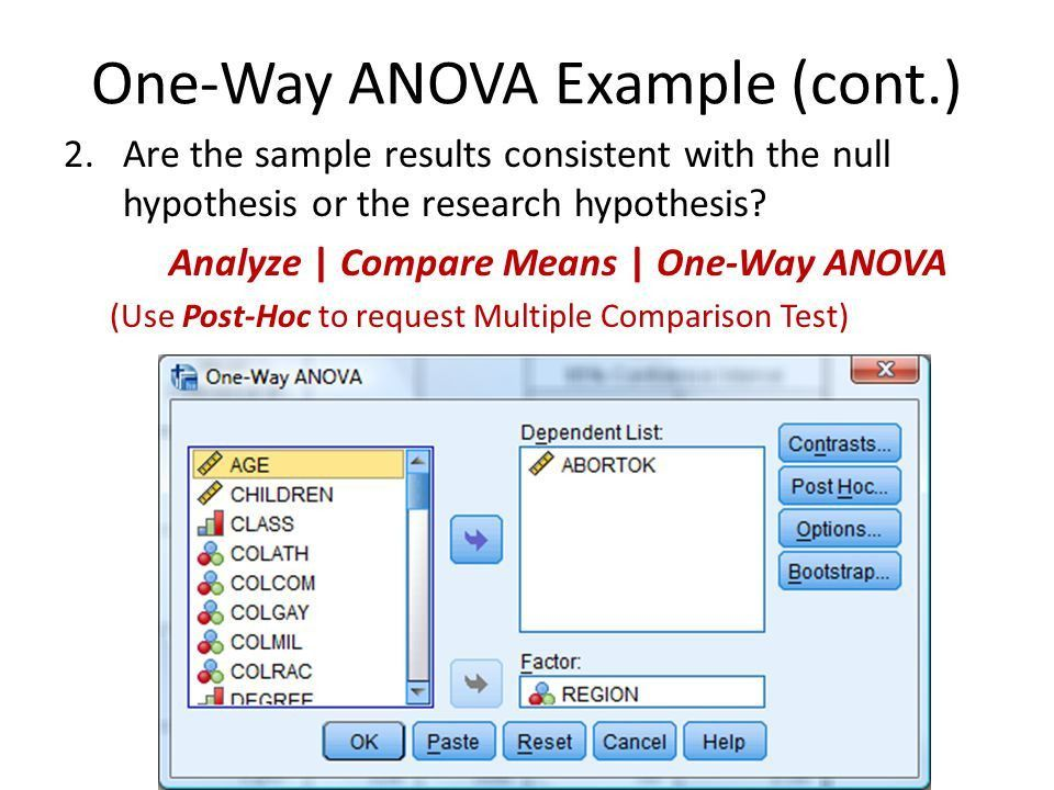 Lab Chapter 14: Analysis of Variance 1. Lab Topics: One-way ANOVA ...