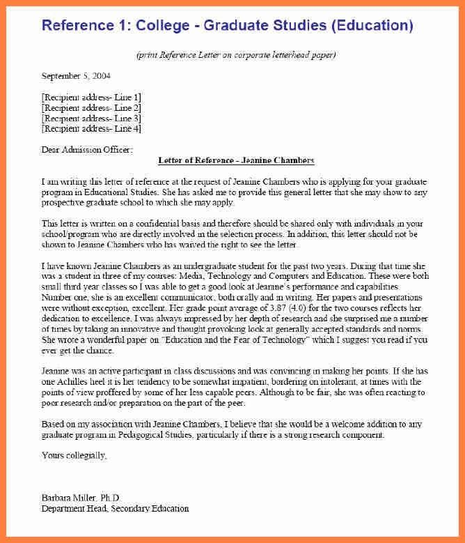 3+ recommendation letter sample for college admission | Life ...