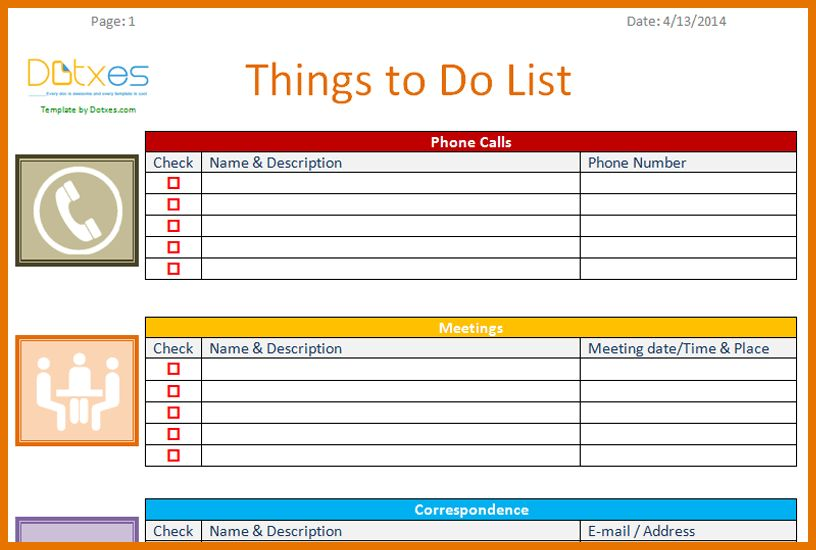6+ to do template   Itinerary Template Sample