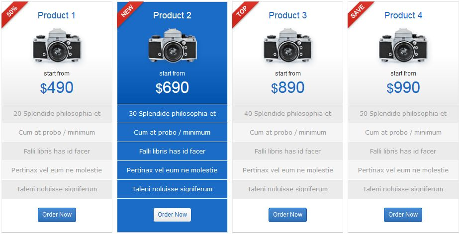 How to Create a Product Comparison Table For Your Website in 2017
