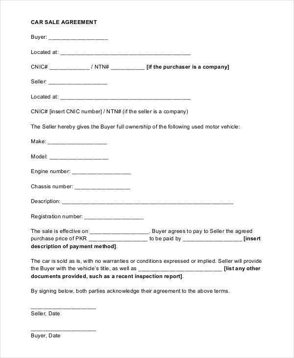 9+ Sales Agreement Contract - Free Sample, Example, Format Download