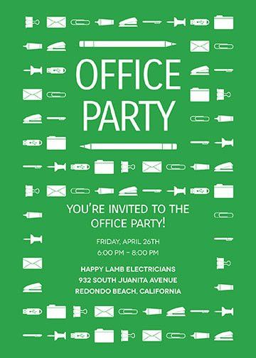 Office Party Invitations | Oubly.com