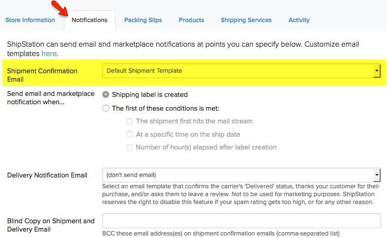 How do I send a shipment notification e-mail to my customers ...