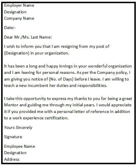 resignation letter employer word document templates free ...