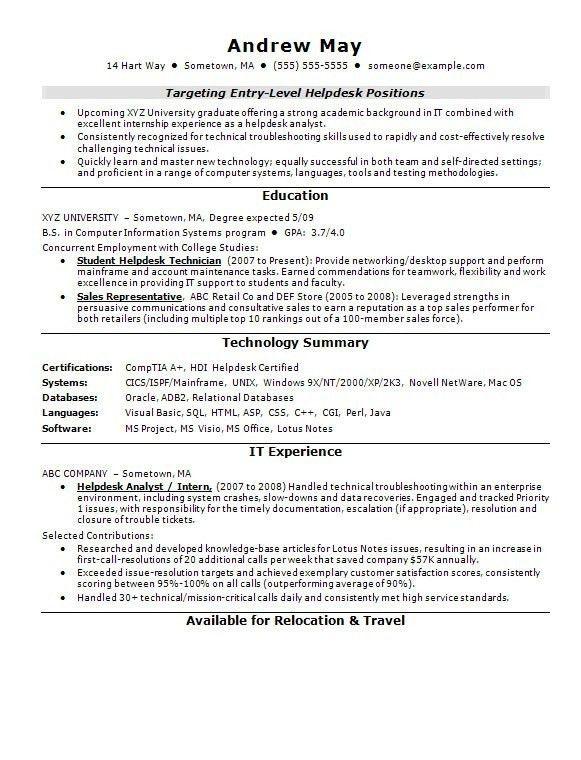 Entry Level Teaching Resume - Best Letter Sample