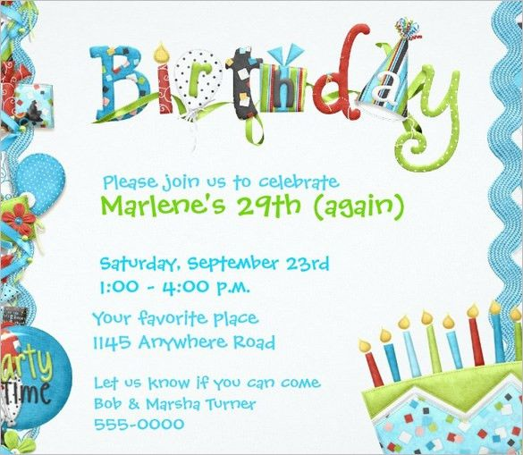 Birthday Invitation Templates | wblqual.com