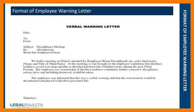 7+ warning letters for employees | park-attendant