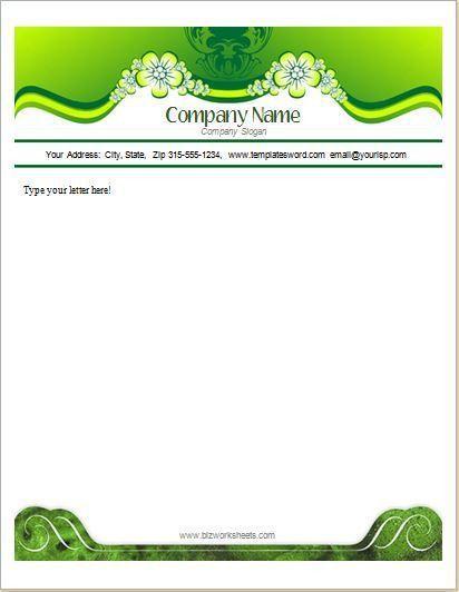 Business Letterhead Template DOWNLOAD at http://www.bizworksheets ...