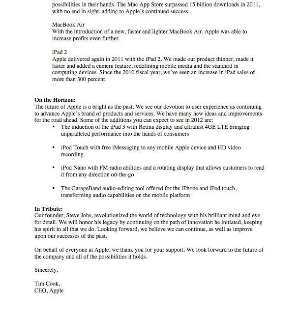 Apple Shareholder Letter - Lauren Osborn's Online Portfolio