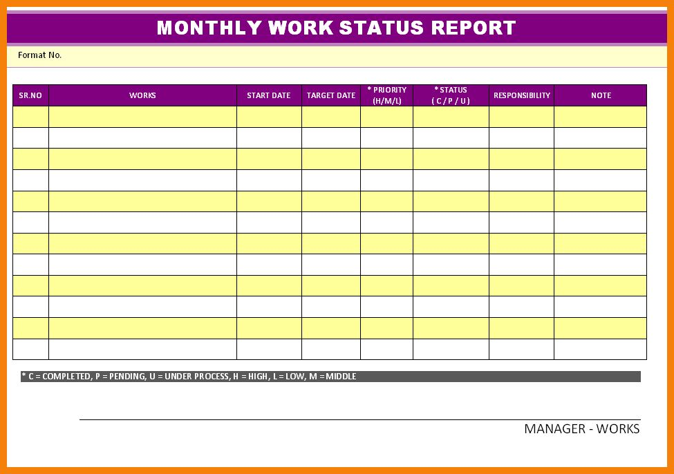 10+ work progress report template | hr cover letter