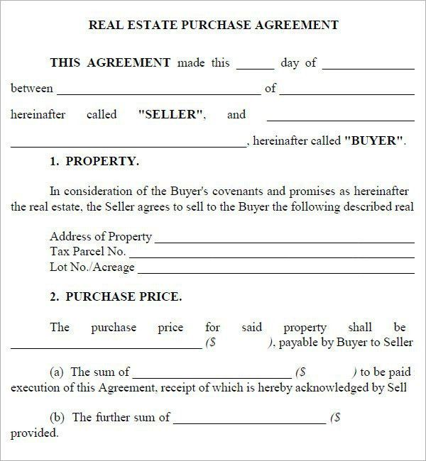10 Best Images of Free Real Estate Purchase Agreement Contract ...