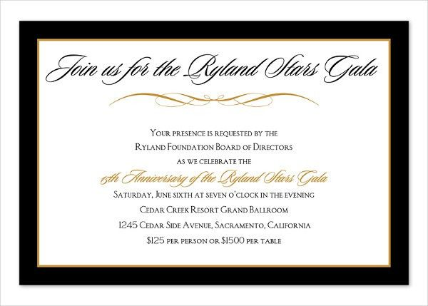 7+ Corporate Dinner Invitations - Free Sample, Example, Format ...