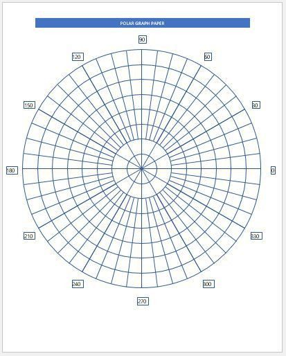 Polar Graph Paper. One Full Page Polar Graph Paper Pdf Download ...