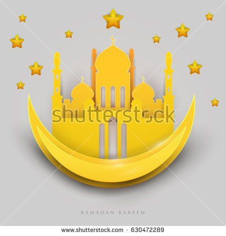 Islamic Beautiful Design Template Glowing Mosque Stock Vector ...