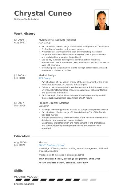 National Account Manager Resume samples - VisualCV resume samples ...