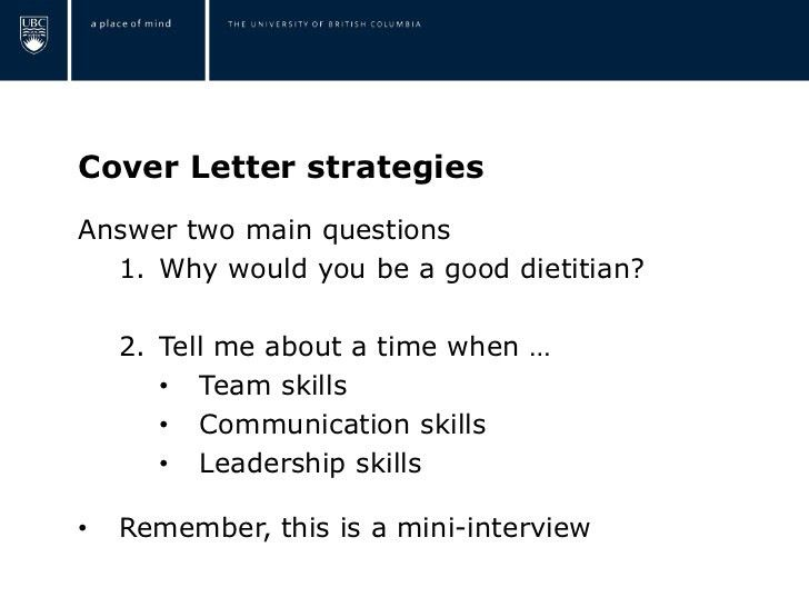 Dietetics resume workshop
