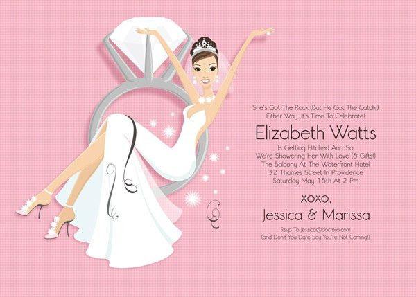 Swinging Bride Pink Bridal Shower Invitation | Doc Milo Bridal ...