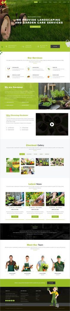 Lawn Care services - WordPress website theme | Download, Landscape ...