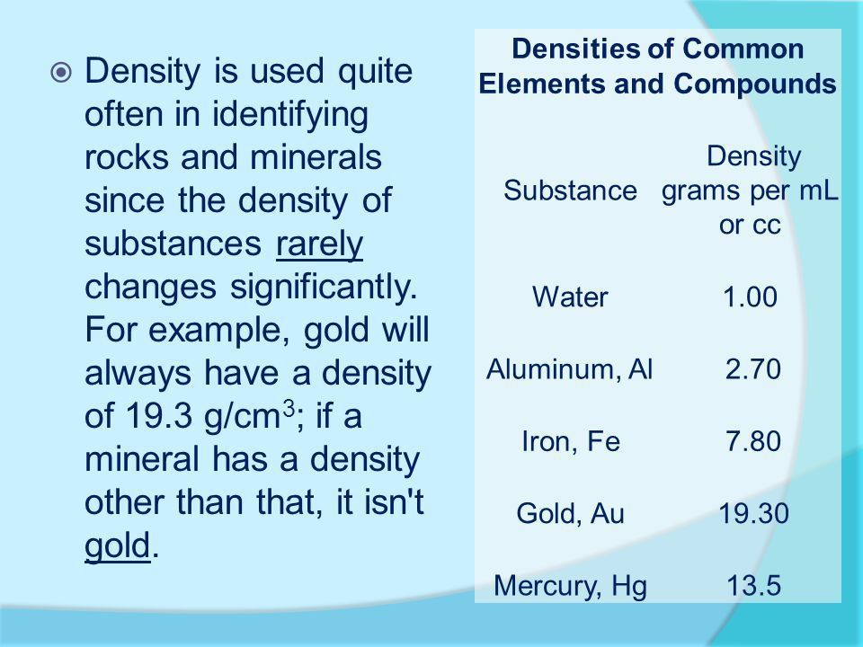 Density. What is Density?  Density is the amount of matter in a ...