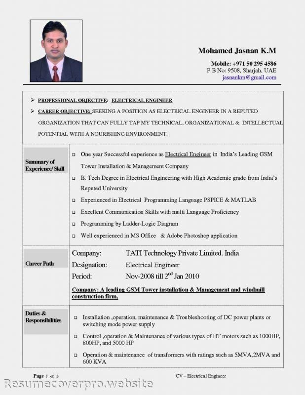 electrician resume example. resume template journeyman electrician ...
